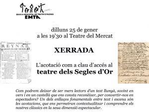 La acotación como clave de acceso al teatro de los siglos de oro - EMTA